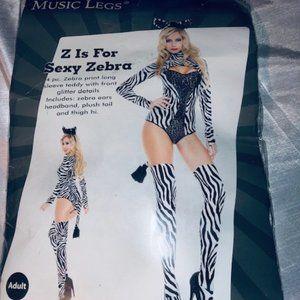 Music Legs X-small Zebra Sexy Women's Costume